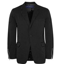 Junya Watanabe Black Slim Fit Twill Blazer Black