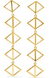 Arme De L'amour Gold Plated Earrings One Size