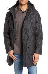 Billy Reid Men's Camden Waxed Cotton Parka With Removable Genuine Rabbit Fur Liner Black