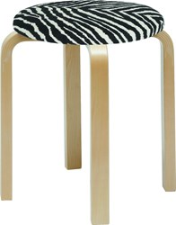 Artek Upholstered Stool E60 Natural Lacquered