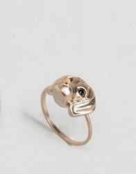 Asos Limited Edition Sausage Dog Ring Gold