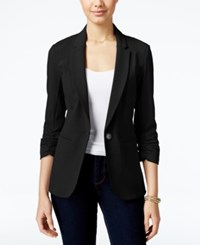 Xoxo Juniors' Ruched Sleeve Blazer Black