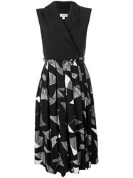 Jovonna Sleeveless Printed Dress Black
