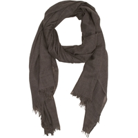 Barneys New York Fringed Scarf Foal Taupe