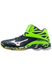 Mizuno Wave Lightning Z2 Volleyball Shoes Dress Blues White Green Gecko