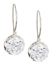 Fantasia Solitaire Cubic Zirconia Wire Dangle And Drop Earrings