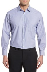 Nordstrom 'S Big And Tall Men's Shop Classic Fit Non Iron Stripe Dress Shirt Navy Dusk
