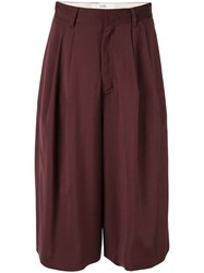 G.V.G.V. Pleated Cropped Trousers Brown