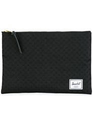 Herschel Supply Co. Embossed Dots Clutch Black