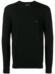 Emporio Armani Long Sleeve Jumper Black