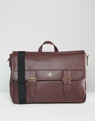 Asos Satchel In Burgundy With Gold Emboss Burgundy Red