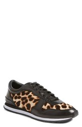 Tory Burch Women's Brielle Sneaker Natural Leopard Black