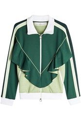 Golden Goose Deluxe Brand Ruffle Track Top Green