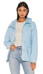 The North Face Zoomie Jacket In Baby Blue. Angel Falls Blue