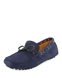 Neiman Marcus Blacks Beach Nubuck Driver Blue
