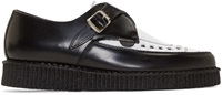 Underground Black And White Leather Barfly Creepers