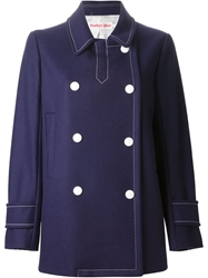 See By Chloe Double Breasted Coat Blue