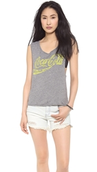 Chaser Neon Coca Cola Tank Grey