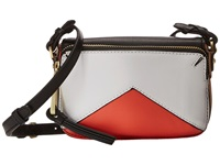 Rafe New York Monique Crossbody Coral White Cross Body Handbags Orange