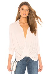 Krisa Surplice Blouse Blush