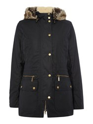 Barbour Kelsall Waxed Jacket Navy