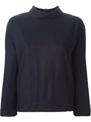 Stephan Schneider Funnel Neck Sweater Blue