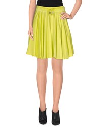 Jijil Skirts Mini Skirts Women Acid Green