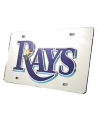 Rico Industries Tampa Bay Rays License Plate Silver