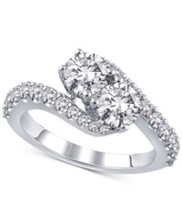 Macy's Diamond Swirl Engagement Ring 2 Ct. T.W. In 14K White Gold
