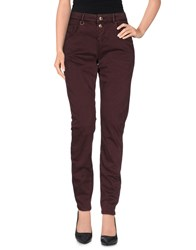 Only Trousers Casual Trousers Women Deep Purple