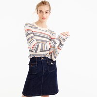 J.Crew Italian Cashmere Thin Striped Sweater