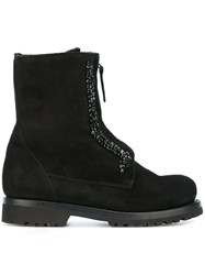 Ermanno Scervino Lace Up Ankle Boots Black