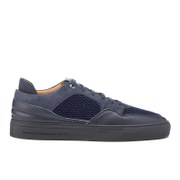 Android Homme Men's Omega Quilted Velvet Low Top Trainers Navy