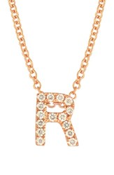 Bony Levy Women's Pave Diamond Initial Pendant Necklace Nordstrom Exclusive Rose Gold R