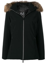 Rrd Faux Fur Trim Jacket Black