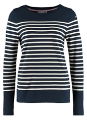 Little Marcel Tarifa Long Sleeved Top Bleu Marine Ecru Dark Blue
