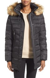 Women's Vince Camuto Down And Feather Fill Parka With Faux Fur Trim