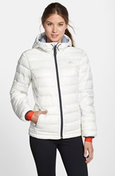 Women's Adidas 'Frostlight' Climaheat Quilted Down Jacket White