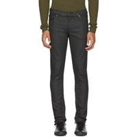 Blk Dnm Black Coated Skinny Taper '5' Jeans