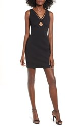 Love Fire Keyhole Body Con Dress Black