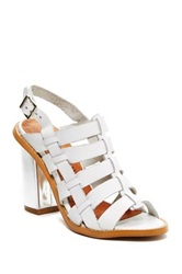Sixtyseven Larissa Leather Slingback Heeled Sandal White