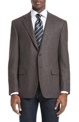 Canali Men's Classic Fit Houndstooth Wool And Cashmere Sport Coat