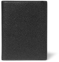 Thom Browne Pebble Grain Leather Passport Holder Black