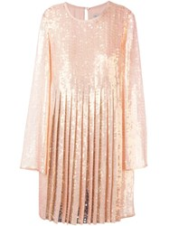 Emilio Pucci Pleated Sequin Dress Yellow And Orange