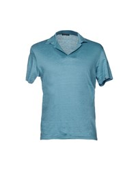 Scaglione T Shirts Turquoise