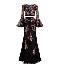 Jovani Embroidered Lace Two Piece Gown Multi