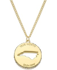 Kate Spade New York State Of Mind Gold Tone State Cutout Pendant Necklace North Carolina