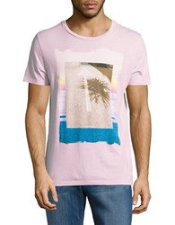 Hugo Boss Printed Cotton Tee Light Pink