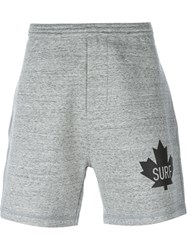 Dsquared2 Logo Track Shorts Grey