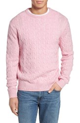 Vineyard Vines Men's Wool And Cashmere Cable Knit Sweater Cotton Candy